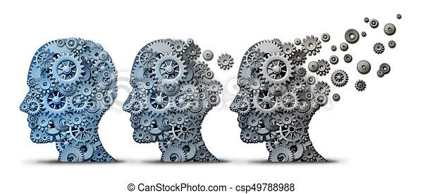 脳, 痴ほう, alzheimer, 病気 - csp49788988