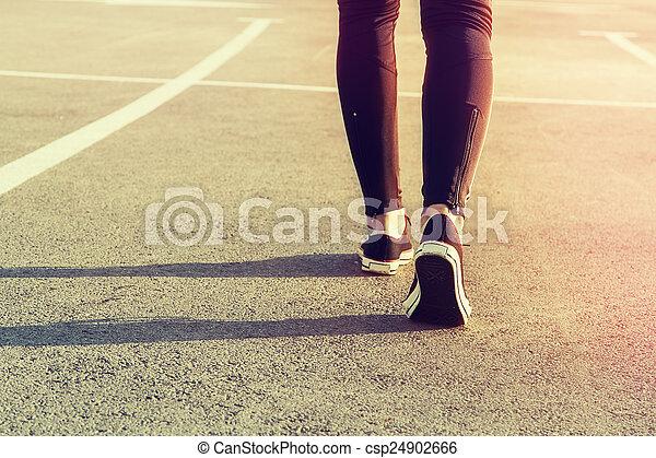 腿, 運動 - csp24902666