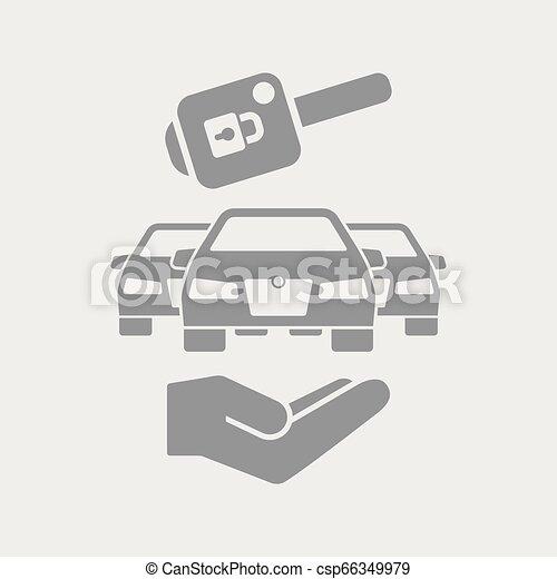 自動車のキー, アイコン - csp66349979