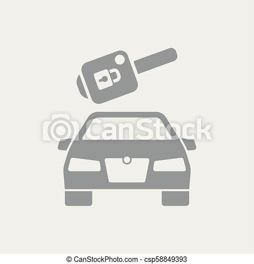 自動車のキー, アイコン - csp58849393