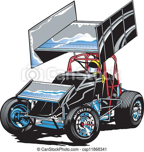 自動車レース, midget - csp11868341