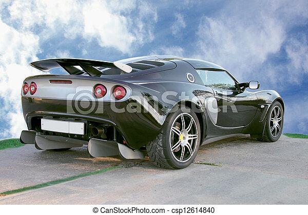 自動車, スポーツ, 青い空, 背景 - csp12614840
