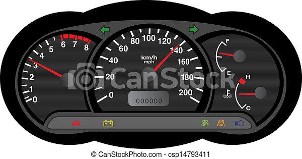 自動車, ダッシュボード - csp14793411
