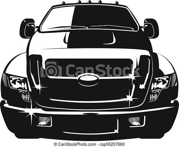 自動車, ベクトル, 漫画 - csp55207660