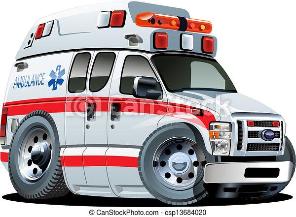 自動車, ベクトル, 漫画, 救急車 - csp13684020