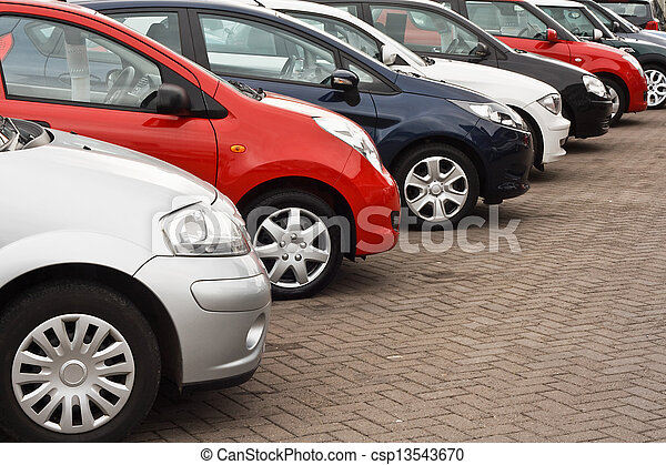 自動車, 使われた, 販売 - csp13543670