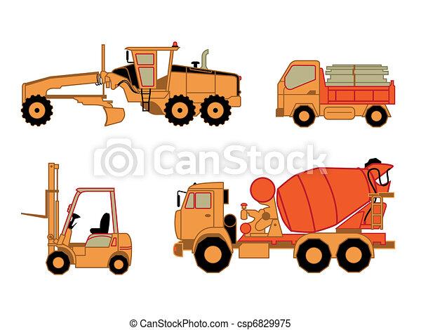 自動車, 建設, 2, セット,   - csp6829975