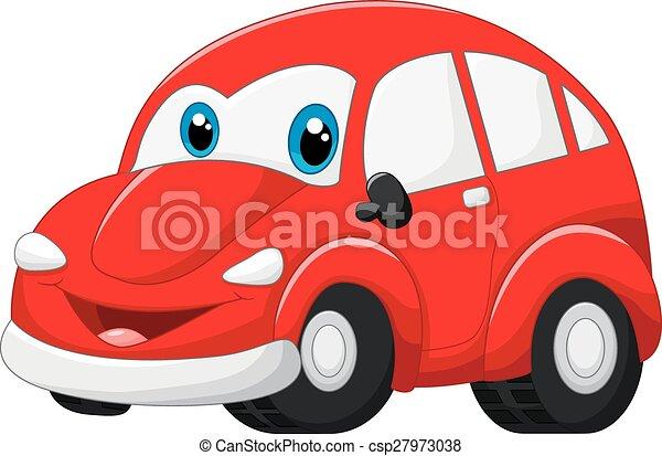 自動車, 漫画, 赤 - csp27973038