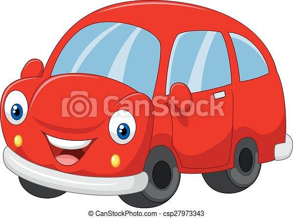 自動車, 漫画, 赤 - csp27973343
