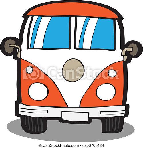 自動車, 漫画, minivan - csp8705124