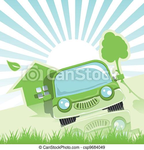 自動車, 緑 - csp9684049