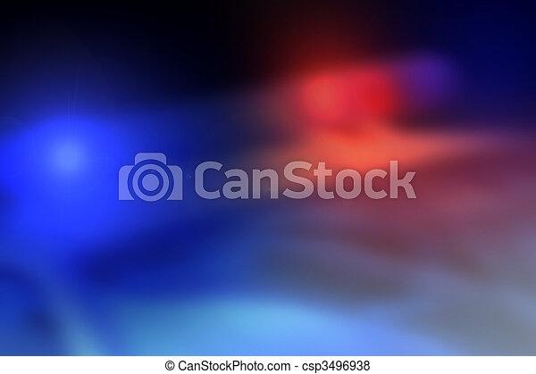 自動車, 背景, ライト, バー, 警察 - csp3496938