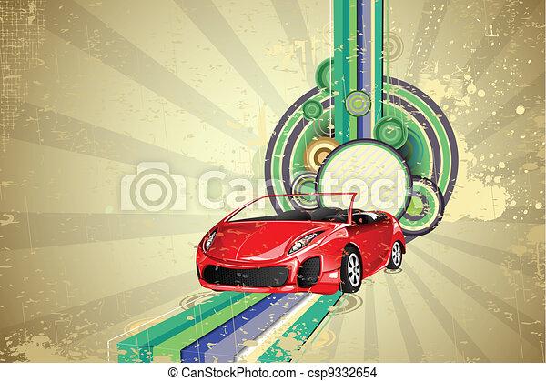 自動車, 背景, 型 - csp9332654