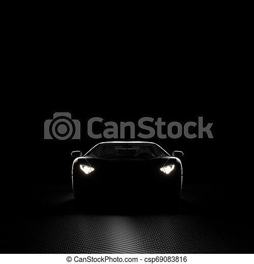 自動車, 背景, 3d - csp69083816