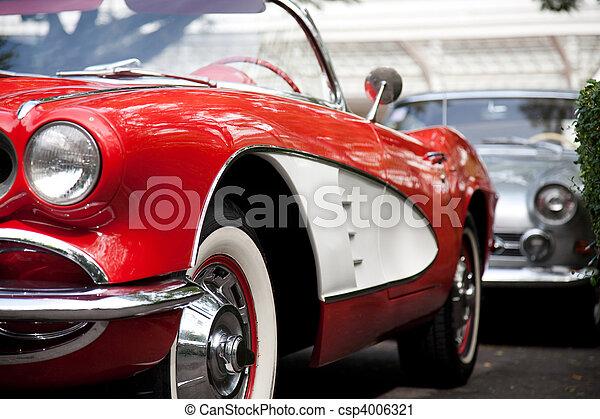 自動車, 赤, クラシック - csp4006321
