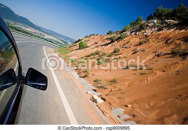 自動車, 道, 速い, 運転 - csp9009895