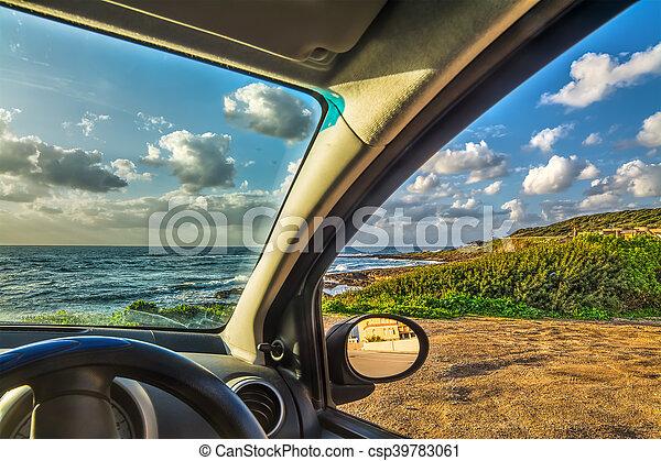 自動車, 駐車される, 海 - csp39783061