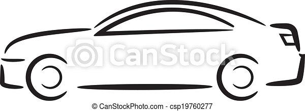 自動車, outline. - csp19760277