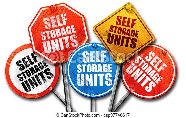 自己, 貯蔵, レンダリング, 通りは 署名する, ユニット, 3d - csp37740617