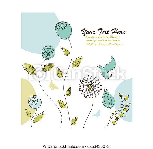 自然, テキスト, スペース, 背景, 花, あなたの - csp3430073