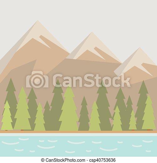自然, 湖, 風景 - csp40753636