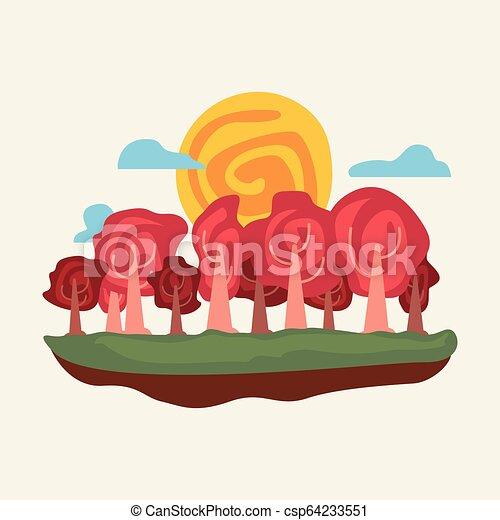 自然, 空, 木, 風景, 自然 - csp64233551