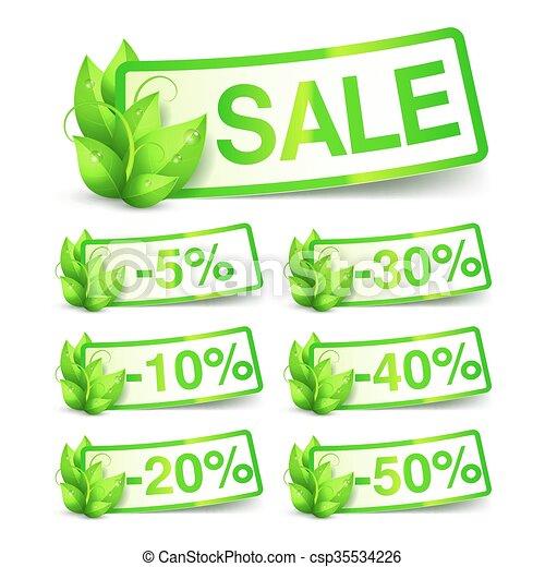自然, 緑, セール, タグ - csp35534226