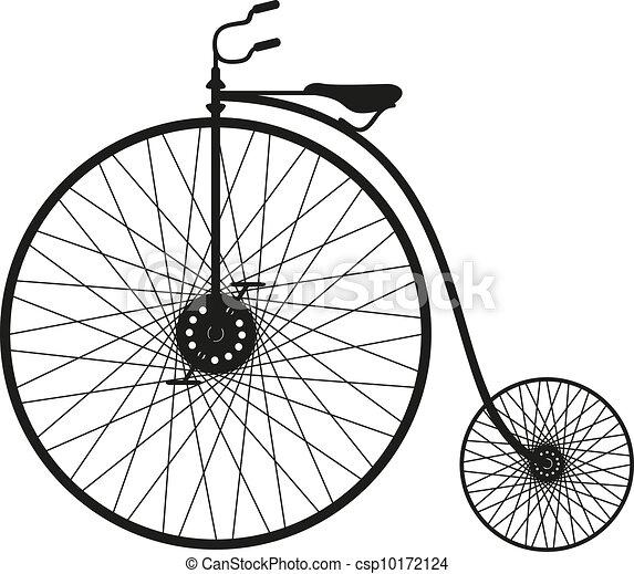 自転車, シルエット, 古い - csp10172124