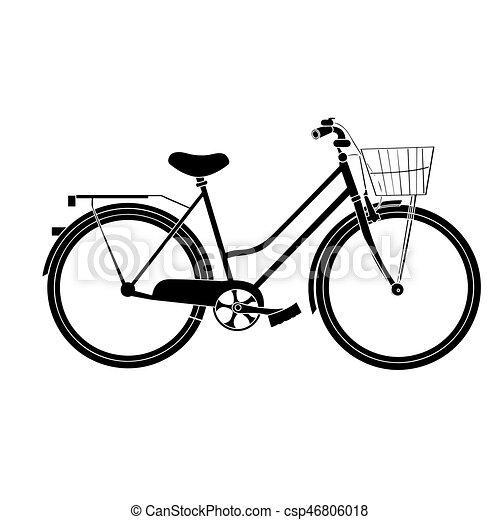 自転車, シルエット, 隔離された - csp46806018