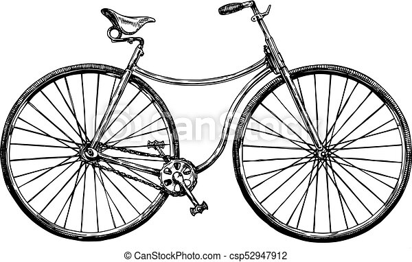 自転車 レトロ イラスト 使われた 自転車 1880s イラスト 手