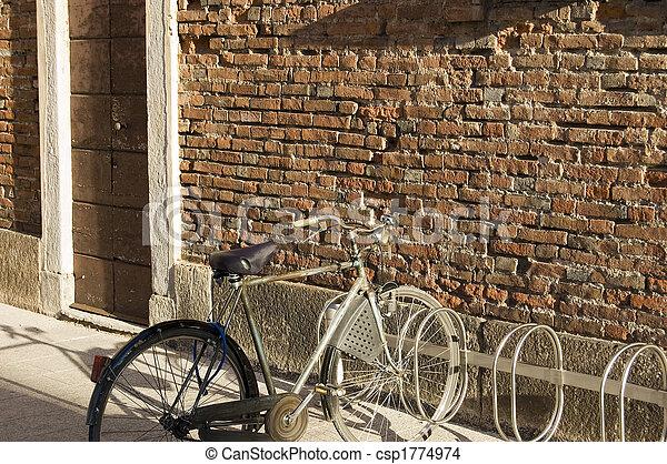 自転車, 壁 - csp1774974
