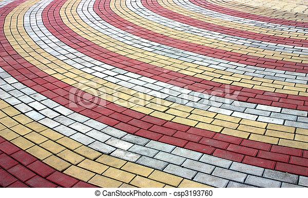 舗装, 有色人種 - csp3193760