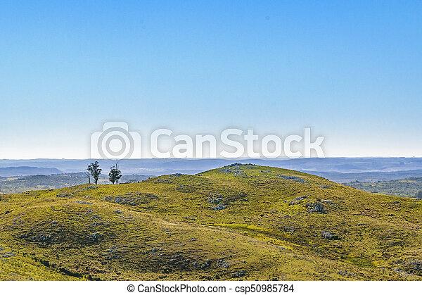 航空写真, ウルグアイ, 田舎, maldonado, 現場, 光景 - csp50985784