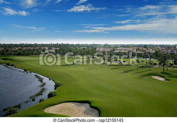航空写真, ゴルフ, フロリダ, 儀礼飛行, コース - csp12155143
