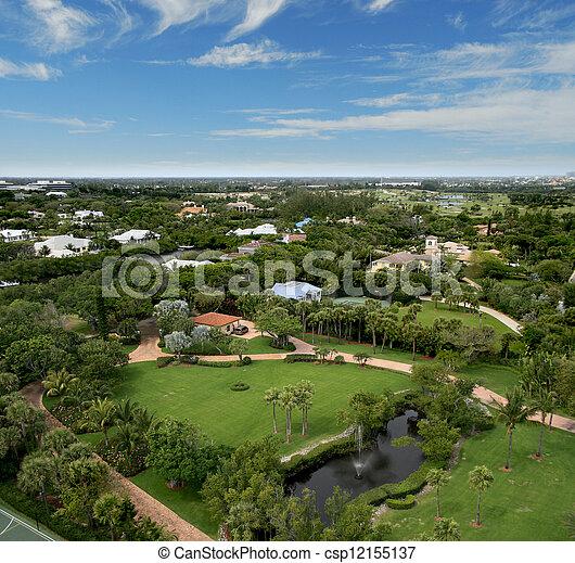 航空写真, 公園, フロリダ, 儀礼飛行 - csp12155137