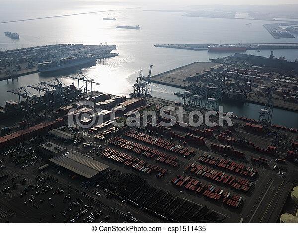 航空写真, dock., 出荷 - csp1511435