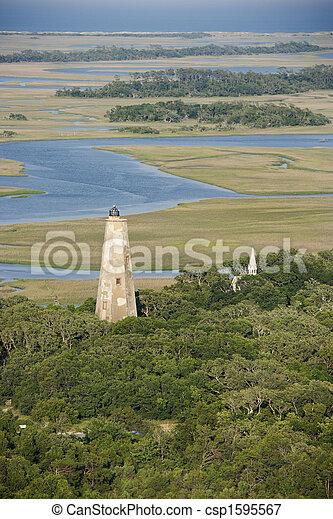 航空写真, lighthouse. - csp1595567