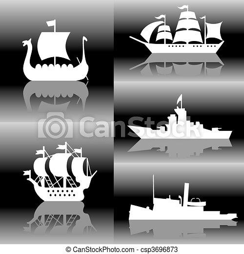船, シルエット - csp3696873