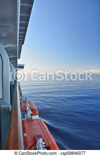 船, 光景, バルコニー, 巡航. カリブ海, ship., 海, 巡航, 光景 ...