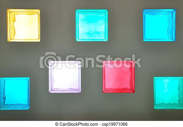色, ガラスブロック - csp19971066