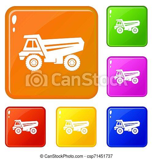 色, セット, トラック, アイコン - csp71451737