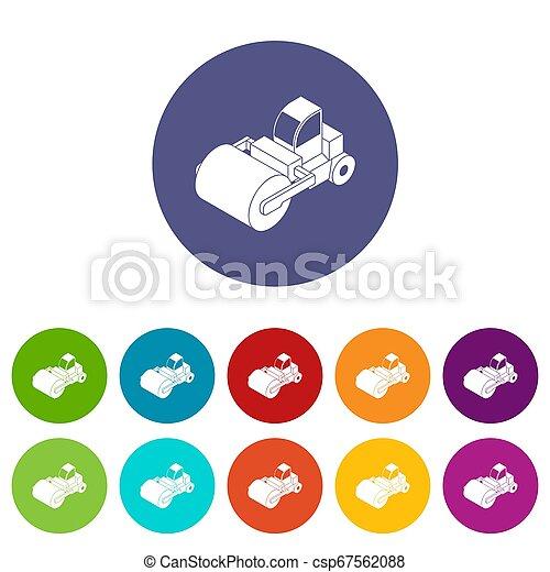 色, セット, トラック, ローラー, アイコン - csp67562088