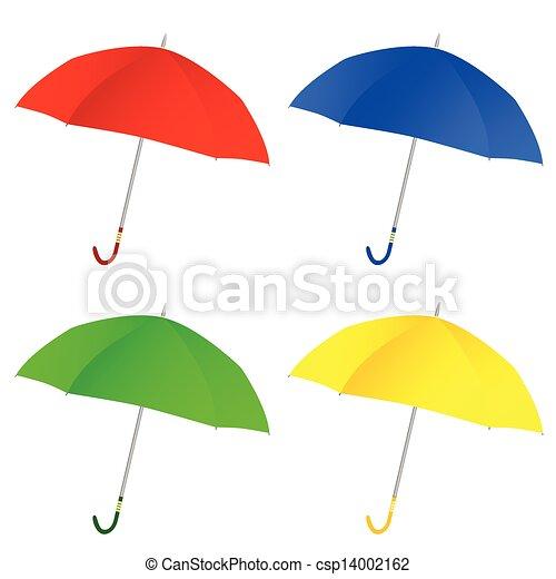 色, ベクトル, 傘, イラスト - csp14002162