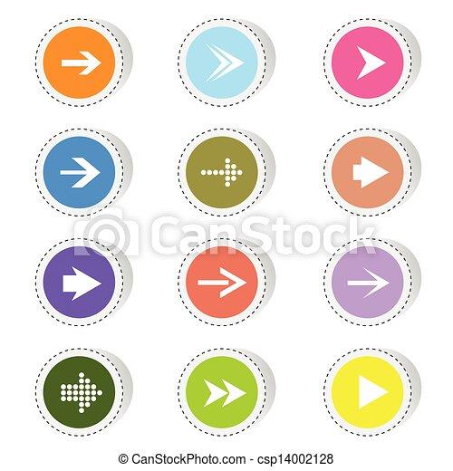 色, ベクトル, 矢, イラスト - csp14002128
