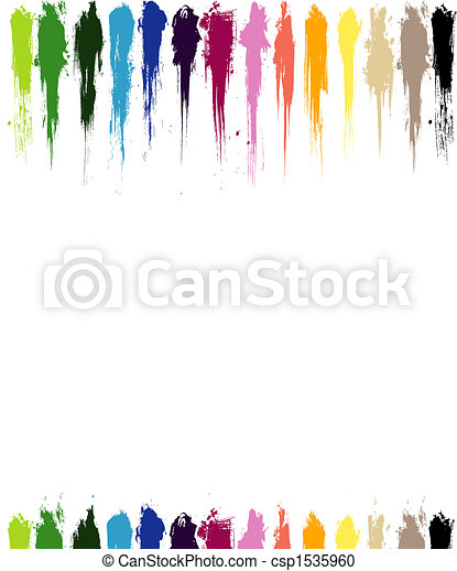色, ペンキ, はねる - csp1535960