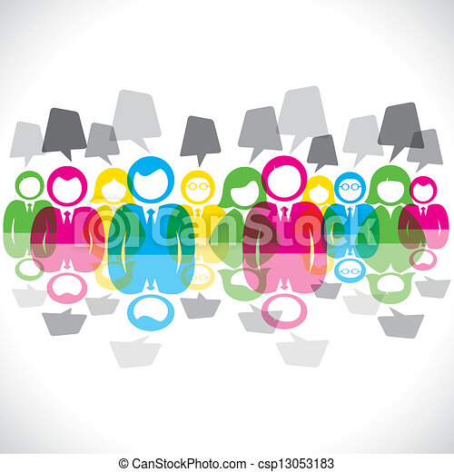 色, メッセージ, b, ミーティング, ビジネスマン - csp13053183