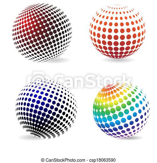 色, 円, halftone - csp18063590