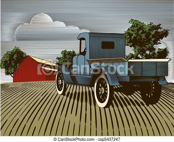色, 型, トラック, 現場 - csp5437247
