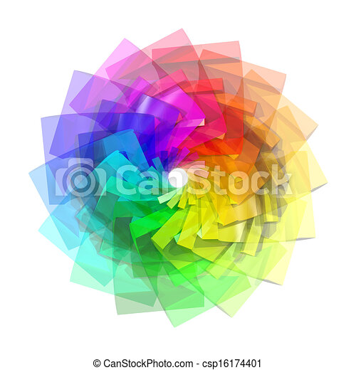 色, 抽象的, らせん状に動きなさい, 背景, 3d - csp16174401