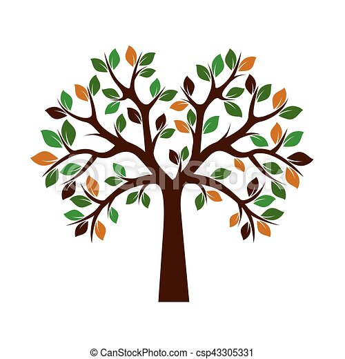 色, 木。, illustration., ベクトル - csp43305331